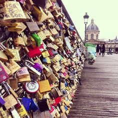 My bucket list…..The Pont Des Arts Lovers Bridge in Paris. You take a lock and write you and your lovers name on it then throw the key into the river. No matter how long or short the relationship last, the lock stays forever as a reminder of the significance they had in your life.