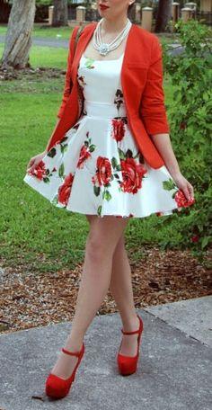 """Rose Swing Dress + Blazer <3  Amanda this would look so cute on you!"" -Tanya   I LOVE IT!!"