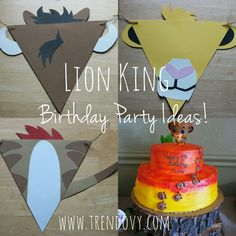 Lion King, Lion king birthday party, lion king birthday ideas, lion king decorations, lion guard, lion guard party, simba, safari party, jungle party, jungle birthday ideas, diy lion king, lion king birthday banner, lion king banner, birthday banner, timon, pumba, lion king characters, paw print cake,