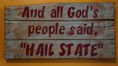 And all God's people said pallet  by PurplePaisleyPalace on Etsy, $50.00