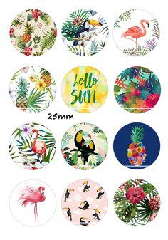 Hello sun 12 Images/Dessins/collages/Scrapbooking digitales pour cabochon 30/25/20/18/16/15/14/12/10/8 mm Rond/Carré/Ovale