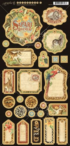 Journaling Chipboard from Safari Adventure, a new collection from Graphic 45