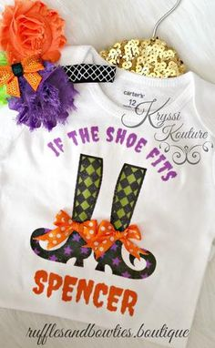 IF the Shoe Fits - Hallween Baby Girl Witch Shirt - Baby Halloween Shirts - Fall Shirts for Kids - Customized Baby Halloween Shirts Halloween Shirts Kids, Toddler Girl Halloween, Halloween Vinyl, Baby Halloween, Mermaid Birthday Outfit, Baby Girl 1st Birthday, 1st Birthday Outfits, Pumpkin Outfit, Kids Boutique