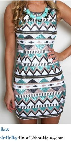 blue and silver printed dress