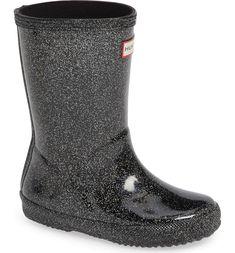 5c0bee985786 Hunter Kids First Classic Starcloud Glitter Rain Boot (Walker