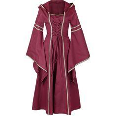 Vestido Medieval Lady Marian Vestido, Mujer Rojo • EMP