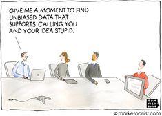 """Unbiased Data"" cartoon"
