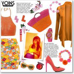 Yoins in Orange & Pink