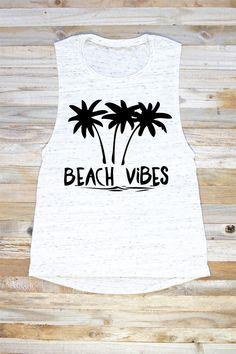 Beach Vibes Tank Top Beach Vibes Tank Tops With by PowderAndSea