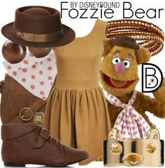 Get the look!  Fozzie Bear (Muppets) http://disneybound.tumblr.com/