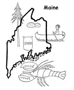 Usa printables new jersey state flag state of new for Maine flag coloring page
