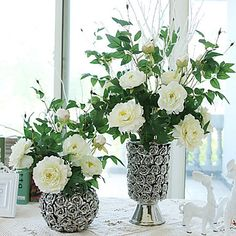 3Head/Branch Silk High Simulation Peony Home Decoration  Artificial Flower – USD $ 8.49