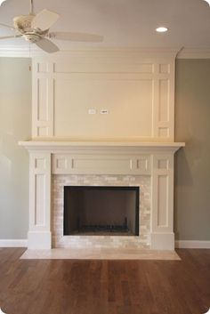 Great idea to expand above existing mantel. All we need to add is the interior trim.