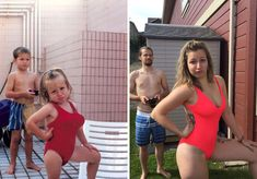 Hilarious People Who Nailed Their Family Photo Recreations Recreated Family Photos, Funny Family Photos, Funny Photos, Stupid Funny, Funny Cute, Hilarious, Tom Holland Girlfriend, Photo Recreation, Family Humor