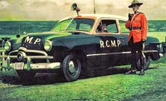 1949 Ford of Canadian Mounted Police American Graffiti, Harrison Ford, Emergency Vehicles, Police Vehicles, Old Police Cars, Car Badges, Police Uniforms, Canadian History, Car Ford