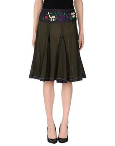 KOOKAI Knee length skirt.  kookai  cloth   Military Green 79b7f398a