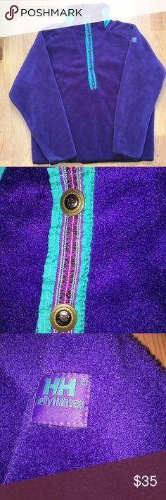 Vintage 80s Helly Hansen Purple Polyester Fleece Vintage 80s Helly Hansen purple 1/4 snap polyester Pullover fleece. Great vintage piece for anyone! In perfect condition! Helly Hansen Shirts Sweatshirts & Hoodies
