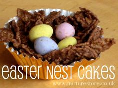 Ever made these with the kids? A classic recipe I remember making with my mum: Easter nest cakes