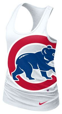 Chicago Cubs MLB Nike Womens White Cotton Racerback Tank