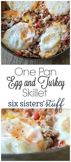 This One Pan Egg and Turkey Skillet is so easy to make and tastes delicious! I love to eat mine with avocados on top! turkey recipe One Pan Egg and Turkey Skillet Brunch Recipes, Gourmet Recipes, Low Carb Recipes, Breakfast Recipes, Cooking Recipes, Healthy Recipes, Cooking Games, Dinner Recipes, Egg Recipes