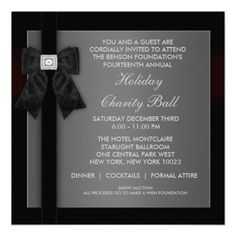 Gala invite keywords corporate non profit fundraiser benefit corporate black tie event formal template custom invites stopboris Gallery