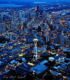 If skies are clear, you'll get this view on your evening flight to Seattle.