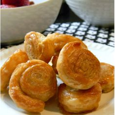 What fantastic looking pastries are these sugared cinnamon puff pastry wheels that are very easy to make , great for breakfast or a mid morning snack
