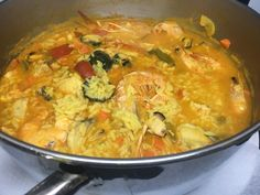 Arroz Caldoso / El Rubio / La Caleta-Los Silos Paella, Fresco, Tenerife, Thai Red Curry, Ethnic Recipes, Food, Seafood, Rice, Plate