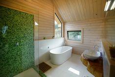 Tai Tapu, Split Level Hill Build - Fraemohs Homes Bathroom Inspiration, Bathroom Ideas, Wooden Walls, Clawfoot Bathtub, Modern Bathroom, Custom Design, Vanity, Cottage, Architecture