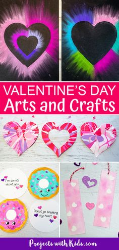 This collection of Valentine's Day arts and crafts will inspire creativity and fun in kids of all ages! Valentine's Day art projects, handmade card ideas, cute crafts, heart art and more! Summer Arts And Crafts, Arts And Crafts For Adults, Arts And Crafts House, Easy Arts And Crafts, Winter Crafts For Kids, Crafts For Boys, Sewing Projects For Kids, Arts And Crafts Projects, Diy Crafts