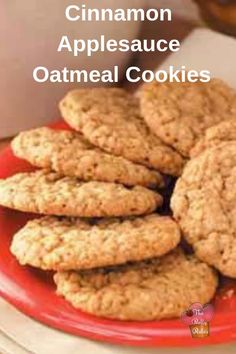 Cinnamon Applesauce Oatmeal Cookies - My Recipe Magic Recipe Using Applesauce, Oatmeal Applesauce Cookies, Healthy Oatmeal Cookies, Apple Pie Oatmeal, Applesauce Recipes, Applesauce Baking, Recipes With Unsweetened Applesauce, Flaxseed Meal Recipes, Good Healthy Recipes