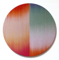 Circle I by Ptolemy Mann, represented at COLLECT by Contemporary Applied Arts Deco Paint, Textiles, Textile Artists, Art Fair, Home Textile, Fiber Art, Printing On Fabric, Weaving, Product Launch