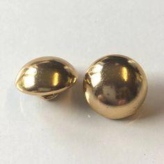 10 gold buttons metal buttons gold metal buttons 17mm
