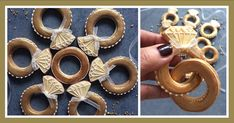 Ringe für die Hochzeit oder Verlobung - nach der Zeremonie dürfen sie gegessen werden!