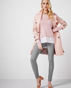 Shop online for Trench Coat. Find Coats, Sale, Women and more at Rwco Summer Work, Spring Summer, Work Fashion, Fashion Boutique, Trench, What To Wear, Duster Coat, Dress Up, My Style