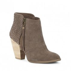 Coffee Woven Ankle Bootie | Zada | Free Shipping on Orders $30+
