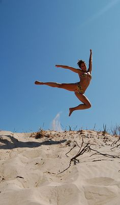 Jumping in Tarifa