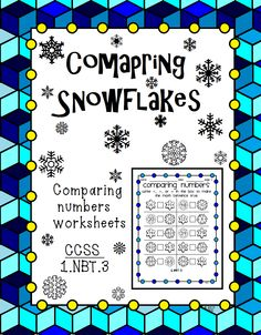 This worksheet has students comparing numbers places on snowflakes.. There are 2 columns of problems. 10 problems on each page. Number range from 0 - 99.   Includes an answer key and terms of use page.   Great for classwork or homework.