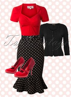 Spice up the holiday season with this sassy vintage look!