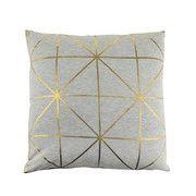 Bloomingville - Diagonal Print Kissen - Gold