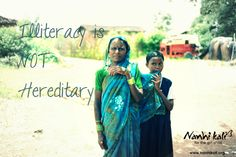 A girl child whose mother received no education is twice as likely to be out of school as one whose mother had some education. It's time to make a change! Show your support for Nanhi Kali. Visit www.NanhiKali.com & join us on http://www.facebook.com/ProjectNanhiKali
