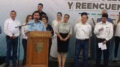 """<p>Chihuahua, Chih.- Durante la presentación por parte del gobierno del estado del programa """"Desarrollo, Paz y Reencuentro"""", el presidente"""