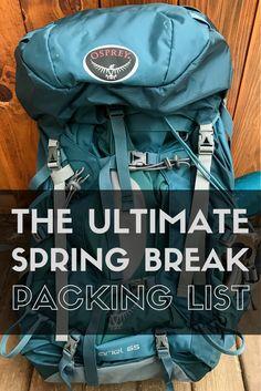 The Ultimate Spring Break Packing List