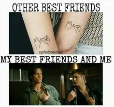Me and my best friends Supernatural Fans, Supernatural Drawings, Supernatural Wallpaper, Castiel, Supernatural Birthday, Winchester Brothers, Winchester Boys, Otaku, Super Natural