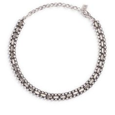 Dannijo 'Jihan' Swarovski crystal collar necklace (615 AUD) ❤ liked on Polyvore featuring jewelry, necklaces and metallic