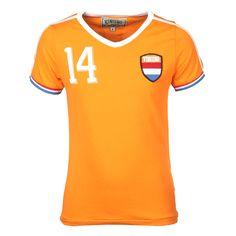 Vingino: WK Zomer 2014 Shirt | International Oranje | Kinderkleding | Voetbal | www.kienk.nl
