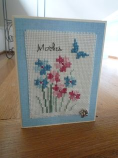 Mother, Hand Stitched Greeting Card by HMCrafters on Etsy