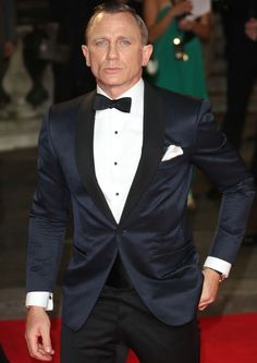 WOW! A gorgeous midnight blue dinner jacket in silk jacquard over black tux trousers - www.mrporter.com/...