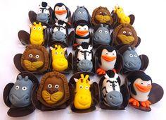 docinho modelado pinguins de madagascar