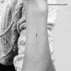 Serif Capital J Letter Temporary Tattoo (Set of – Tatteco M Tattoos, Finger Tattoos, Cute Tattoos, Beautiful Tattoos, Body Art Tattoos, Hand Tattoos, Small Tattoos, Ankle Tattoos, Arrow Tattoos
